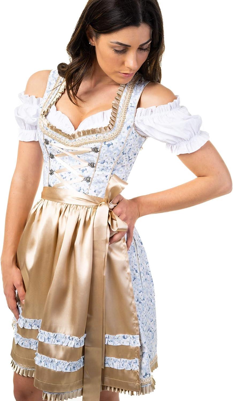 Trachtl.de Dirndl Trachtenkleid Damen Maja IN Gold 3.TLG