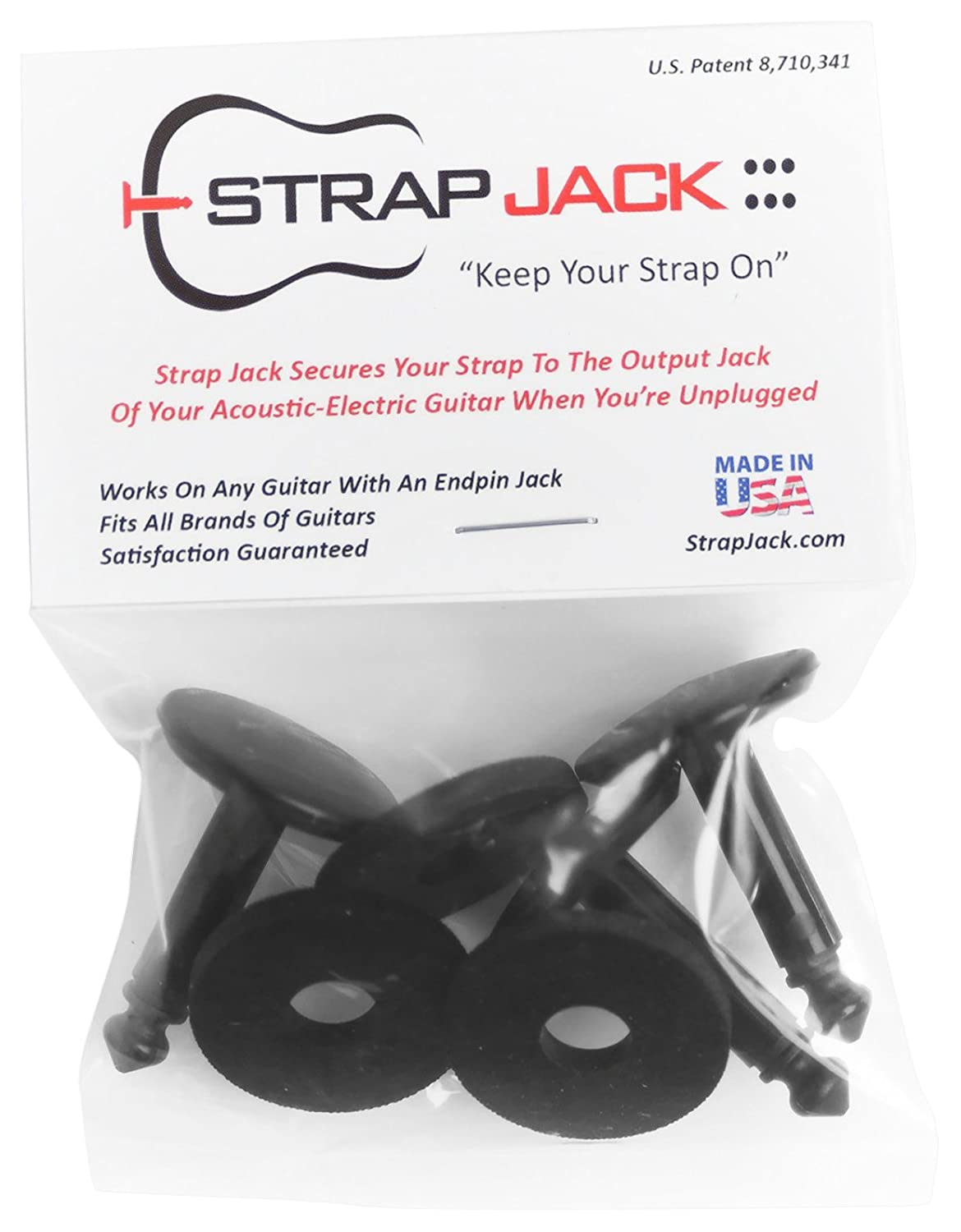 Strap Jack Guitar Strap Lock System For Acoustic - Electric Guitars (1 Pack) SJ-1