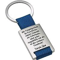 Geschenke 24 Schlüsselanhänger – Vergangenheitsspruch: Schlüssel-Anhänger mit Gravur und romantischem Spruch – optional mit Wunschtext auf der Rückseite personalisiert