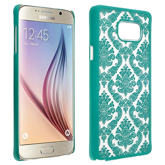 wholesale dealer 66fe3 7e0da Samsung Galaxy Note 5 Case for AT&T Sprint T-Mobile Verizon US Cellular -  Ultra Thin Slim Hard Shell Clear Cover Vintage Damask Lace Flower Design By  ...