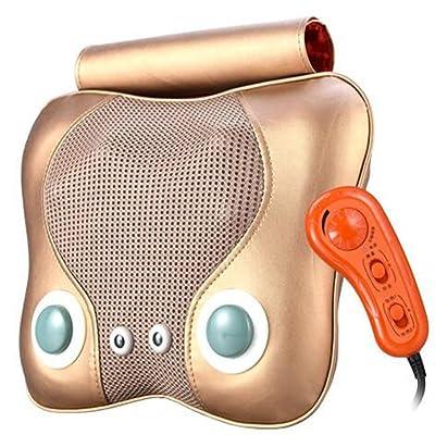 Massage du cou électrique, 4 types de massage, tension 12V, contrôle intelligent de la température, coussin de massage pour le dos,