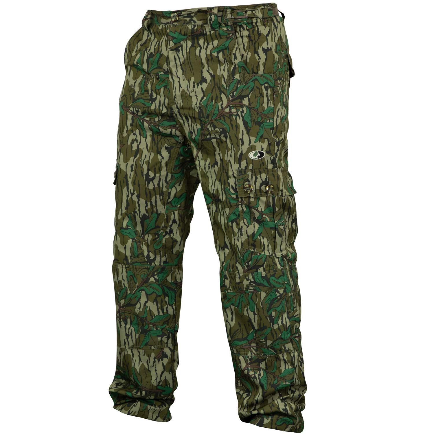 Mossy Oak Camo Lightweight Hunting Pants for Men Camouflage Clothing, Small, Greenleaf by Mossy Oak