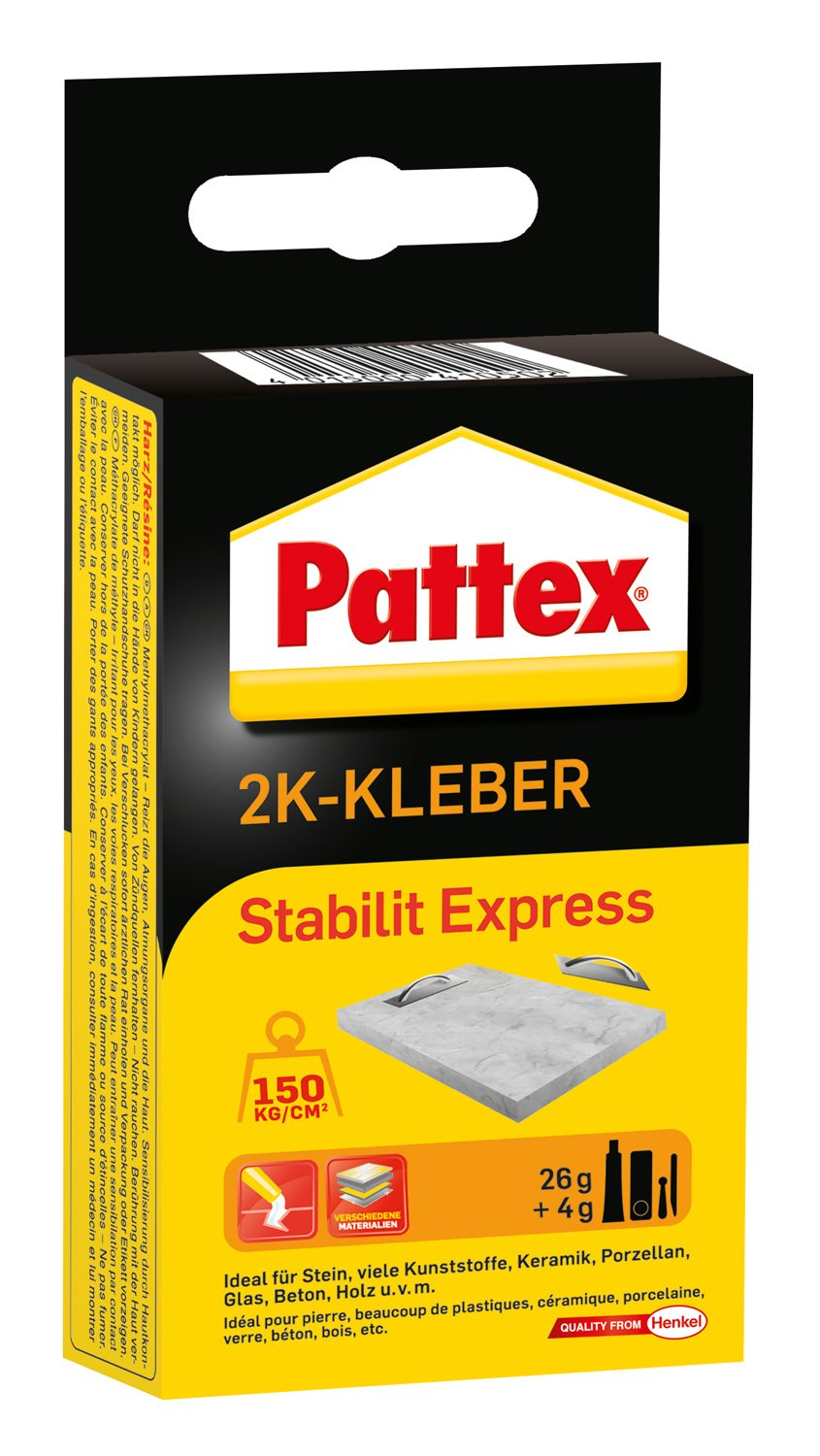 Pattex 1160252'Stability Express' Two Component Adhesive, Black/Orange, 30 g PSE13 B001PHBXKS
