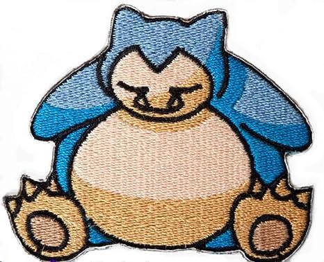 Snorlax parche bordado para planchar o coser en insignia de ...
