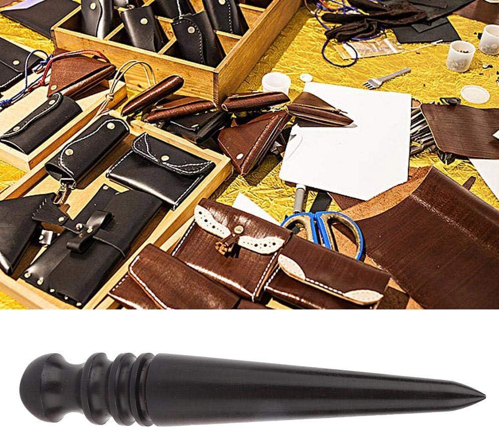 bricolaje cuero de madera bru/ñidor de cuero Craft Edge Burnisher Handworking conjunto de herramientas round rod Barra para pulir cuero