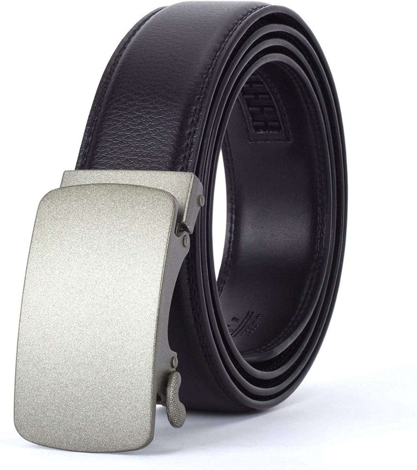 Men Automatic Buckle Leather luxury Belt Business Male Alloy buckle Belts for Men Ceinture Homme,O,115cm