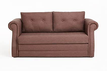 Swell Us Pride Furniture Modern Fabric Upholstered Reversible Loveseat With Sofa Bed And Tufted Finish Brown Machost Co Dining Chair Design Ideas Machostcouk