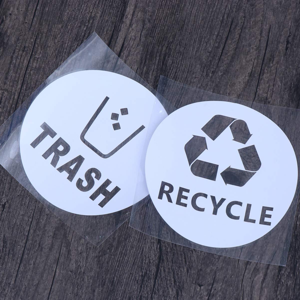 DOITOOL 4pcs recyceln Aufkleber M/ülleimer Abziehbild M/ülleimer Label recyceln Abziehbild Logo f/ür LKW Auto nach Hause K/üche