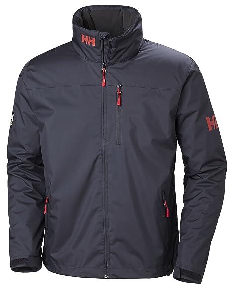 Helly Hansen Mens Crew Midlayer Fleece Lined Waterproof Windproof Breathable Sailing Rain Coat Jacket with Stowable Hood