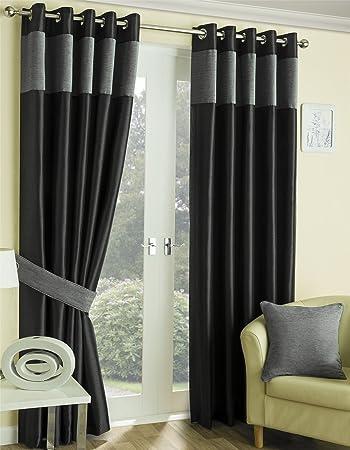 Motel Lined Eyelet Curtains 90