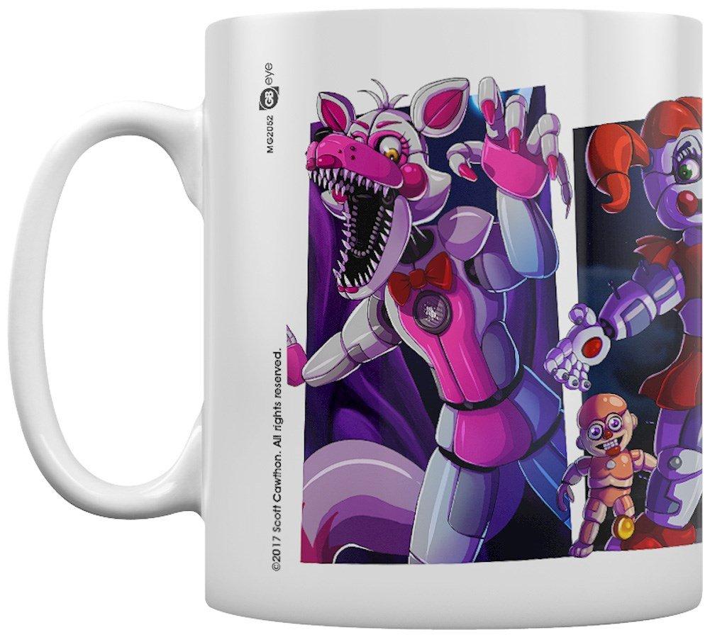 GB eye Five Nights At Freddy's, Sister location Characters Mug, Wood, Multi-Colour, 15 x 10 x 9 cm