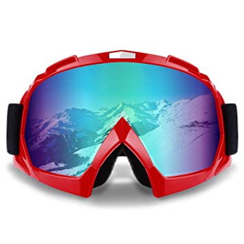 Safety Goggles Multifunctional Cool Safety Goggles Motorcycle Equipment Off-road Windproof Anti-fog Skiing Tactical Goggles Uv400 Protection