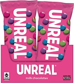 product image for UNREAL Milk Chocolate Gems Snack Pack | Colors from Nature, rBST free, Nothing Artificial,1.5 Ounce (Pack of 12)