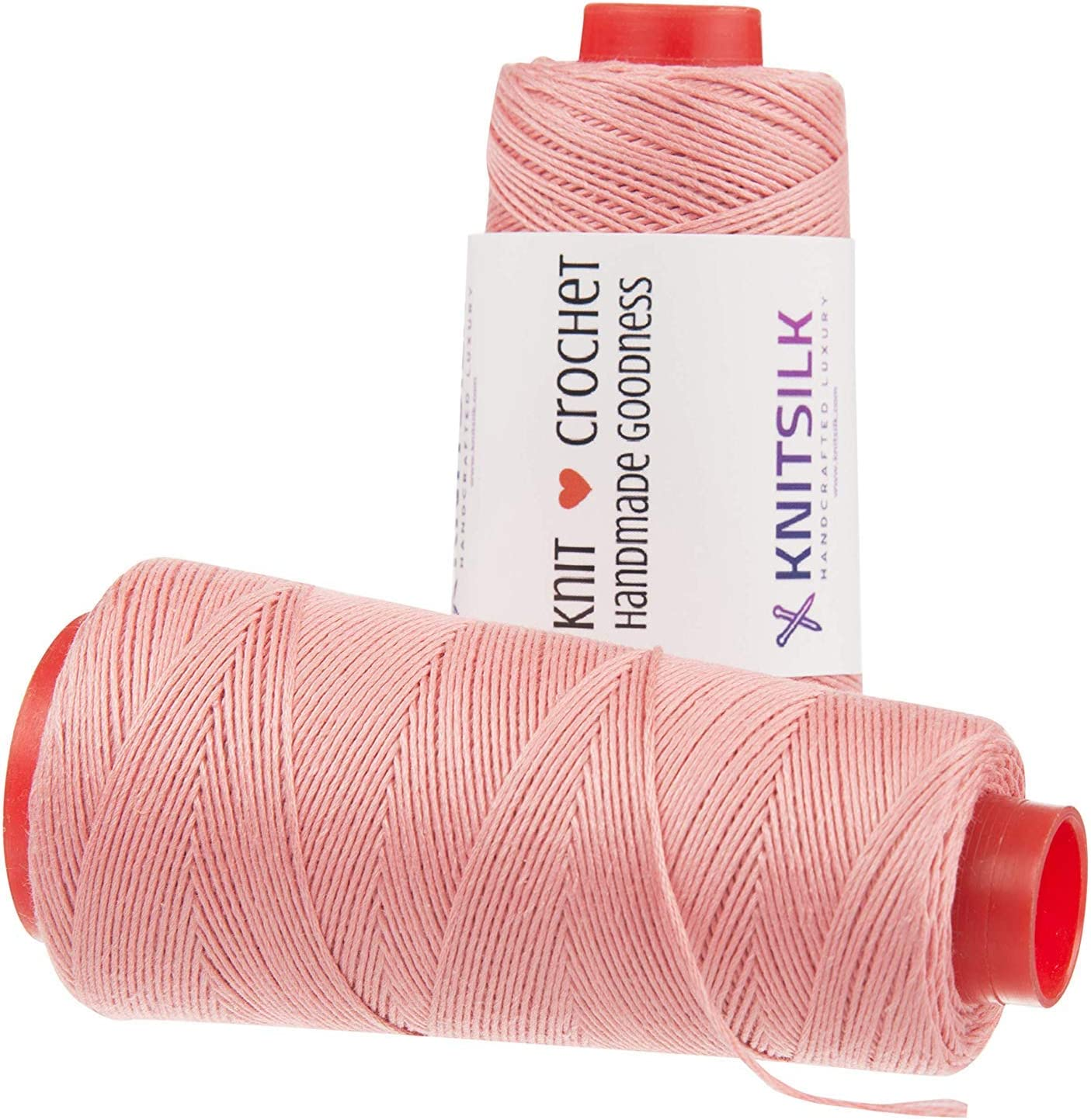 KnitSilk Pure Silk Viscose Blend Yarn in Cones - Knit, Crochet, Weave, Tatting, Jewelry, Crafts (8 Ply - 160 Yards, Pack of 1) (Blush Pink)