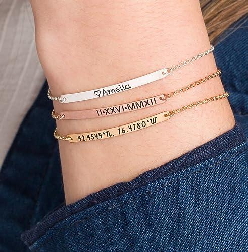 Sterling Silver Stamped Bangle 12g or Rose Gold Filled Gold Filled