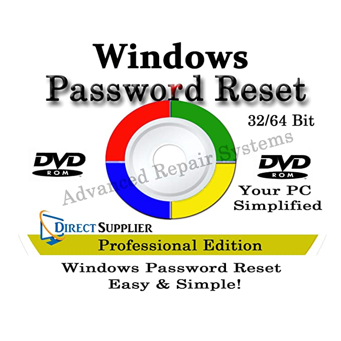 COMPUTER PASSWORD RESET - Recovery Boot Password Reset CD Disc for Windows  XP, Vista, 7, 8, 8 1 and Windows 10 (All Versions of Windows)