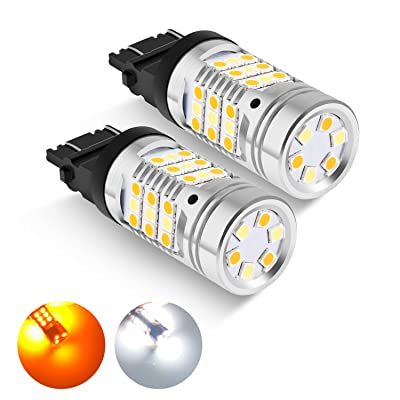 3157 Dual Color Switchback LED Bulbs leppein 3057 3155 3457 4157 Turn Signal Bulbs 42-SMD 3030 Chips for Standard Socket,White/Amber, 1 Pair: Automotive [5Bkhe2000872]