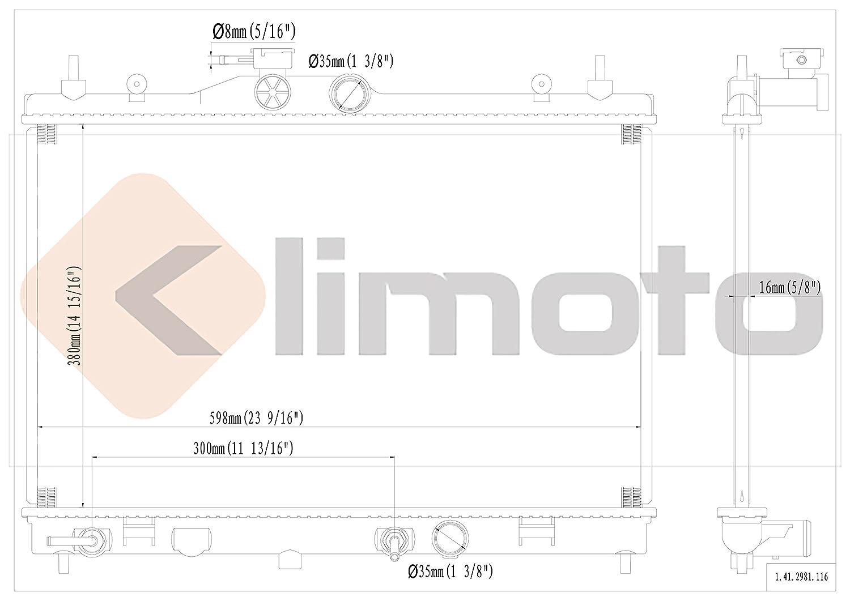 Replacement Parts Klimoto Brand New Radiator fits Nissan Versa ...