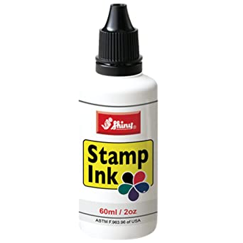 Shiny SHI 40600 Self Inking Stamp Refill Ink By 2oz Black