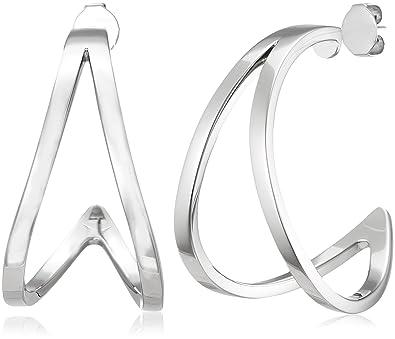f4892b48b Calvin Klein Women Stainless Steel Stud Earrings - KJ6VME000200:  Amazon.co.uk: Jewellery