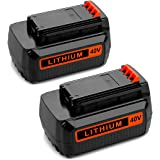 Energup 2 Pack 40 Volt MAX 2.0Ah Replacement Battery for Black&Decker LBX2040 LBX36 LBXR36 LBXR2036 40V Lithium Ion Battery