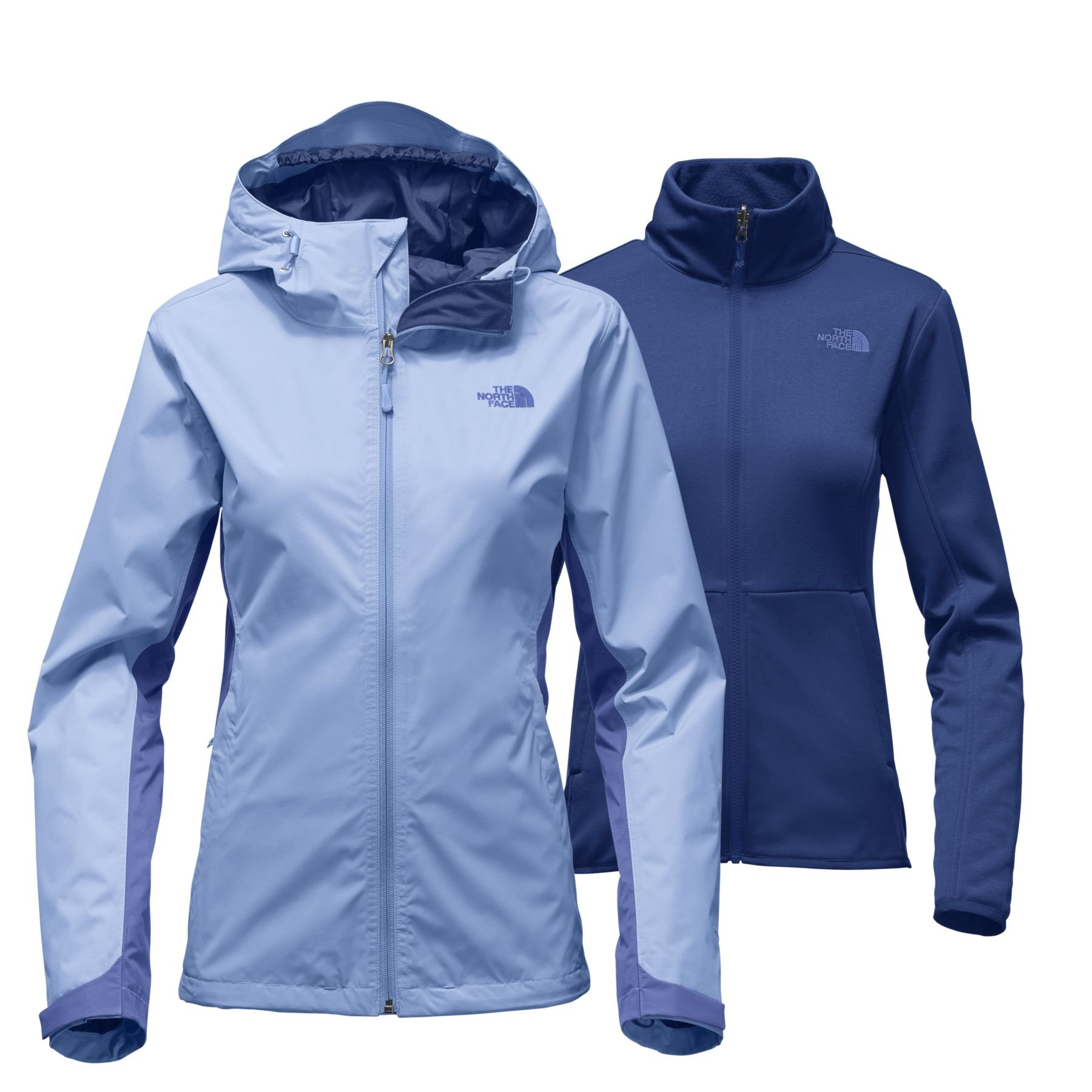 The North Face Women's Arrowood Triclimate Jacket - Collar Blue and Stellar Blue - XL by The North Face