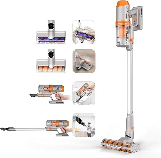 TurboTronic - Aspiradora con batería (potencia de succión extrema ...