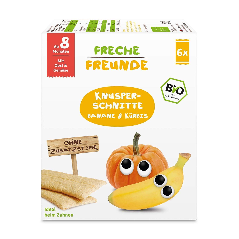 Monaten ohne Zuckerzusatz f/ür Babys ab 8 7er Pack Freche Freunde Bio Babykekse Dinkel-Banane mit Obst vegan 7 x 100 g