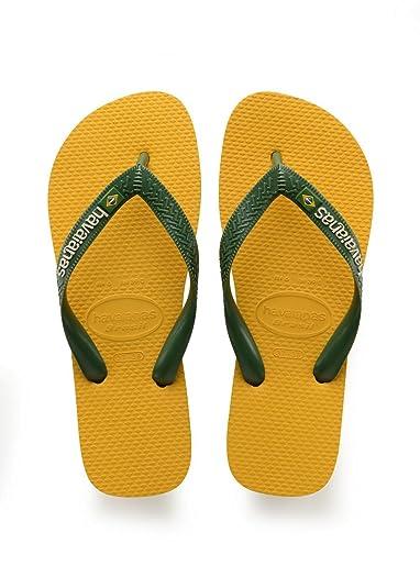 Havaianas Unisex-Erwachsene Brasil Logo Zehentrenner Gelb (Banana Yellow) 35/36 EU (33/34 Brazilian)