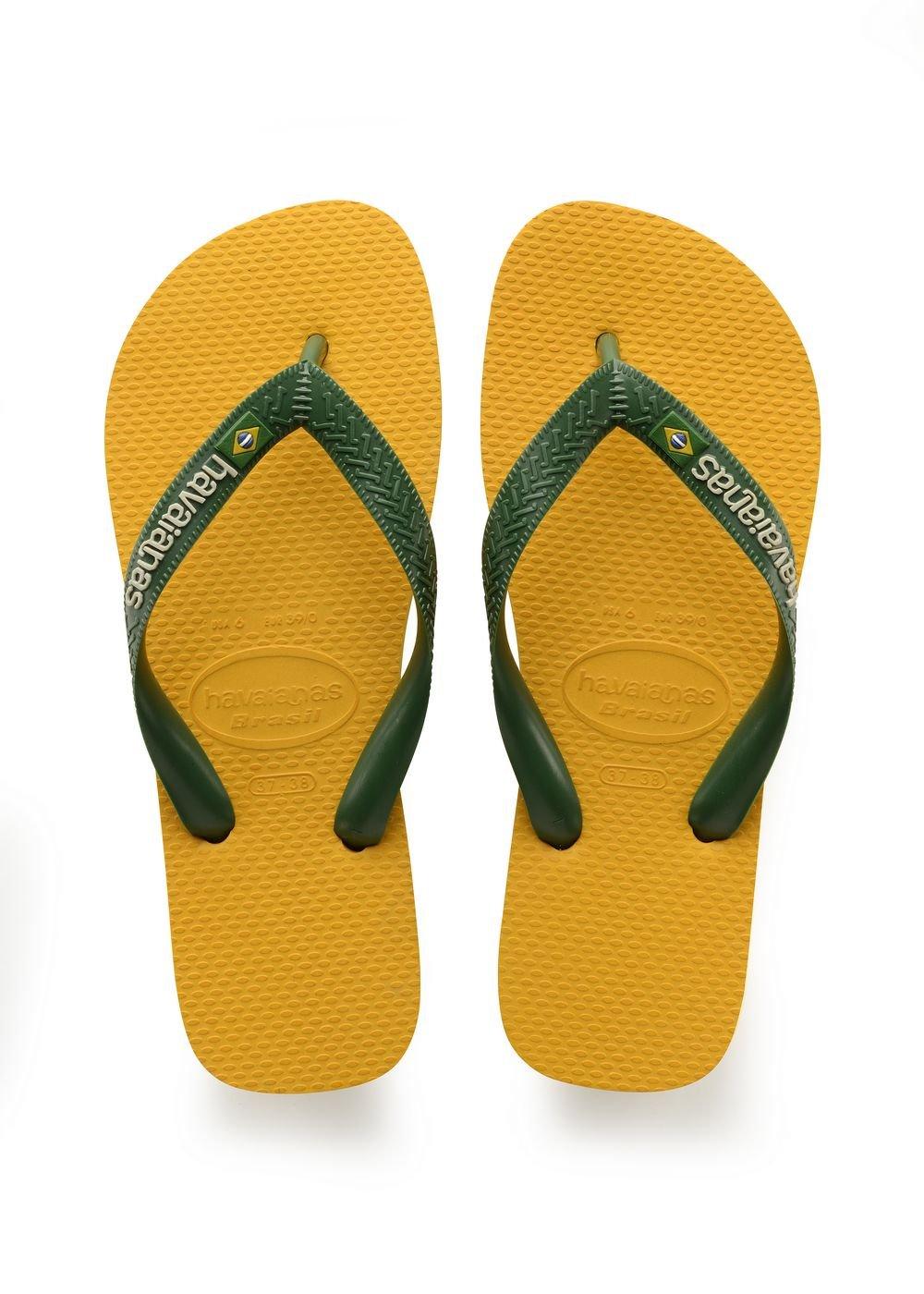 fde616ec393f Galleon - Havaianas Unisex Brasil Logo Rubber Flip-Flops Banana Yellow Size  EU 39 40 - Bra 37 38 - US M6