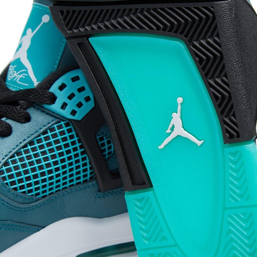 Air Jordan 4 Retro 30th Mens Shoes TealWhiteBlackRetro 705331330 95 DM US  B00UY5G8XE