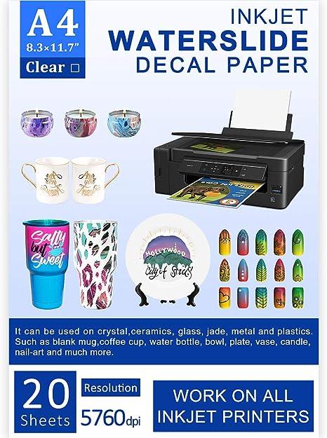 Amazon.com: 20 hojas de papel de inyección de tinta de ...