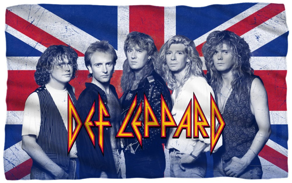 Def Leppard - The Boys Fleece Blanket 58 x 36in