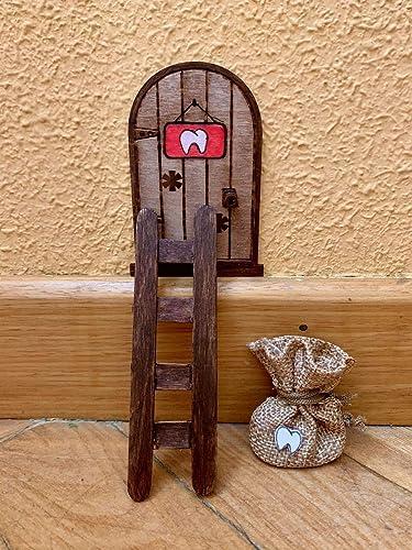 Puerta Ratón Pérez mágica. Regalo original niño niña Ratoncito Pérez. Hecho a mano en España: Amazon.es: Handmade