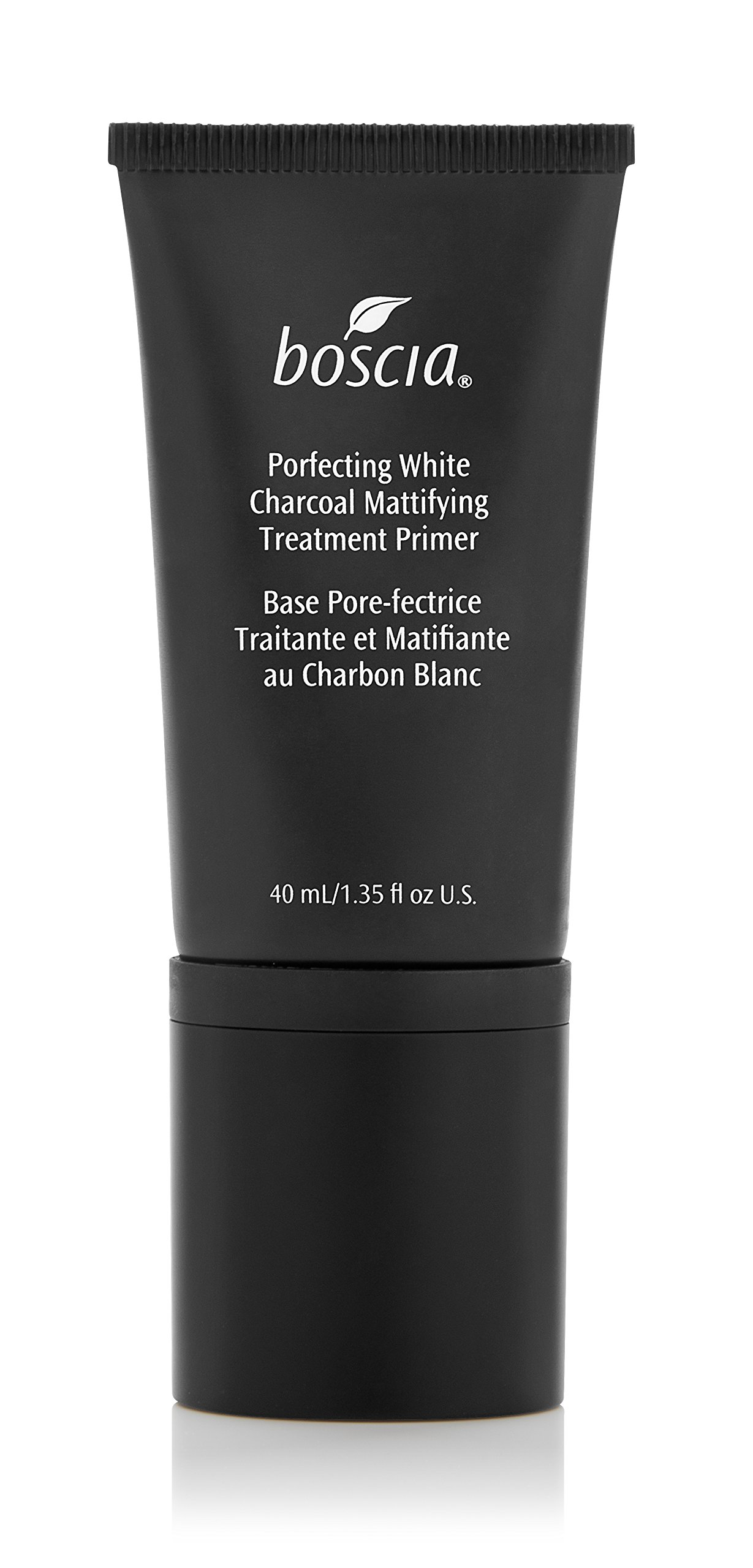 boscia Porefecting White Charcoal Mattifying Treatment Primer - Vegan Makeup Face Primer with Binchotan and Witch Hazel for Oily Skin, 40mL