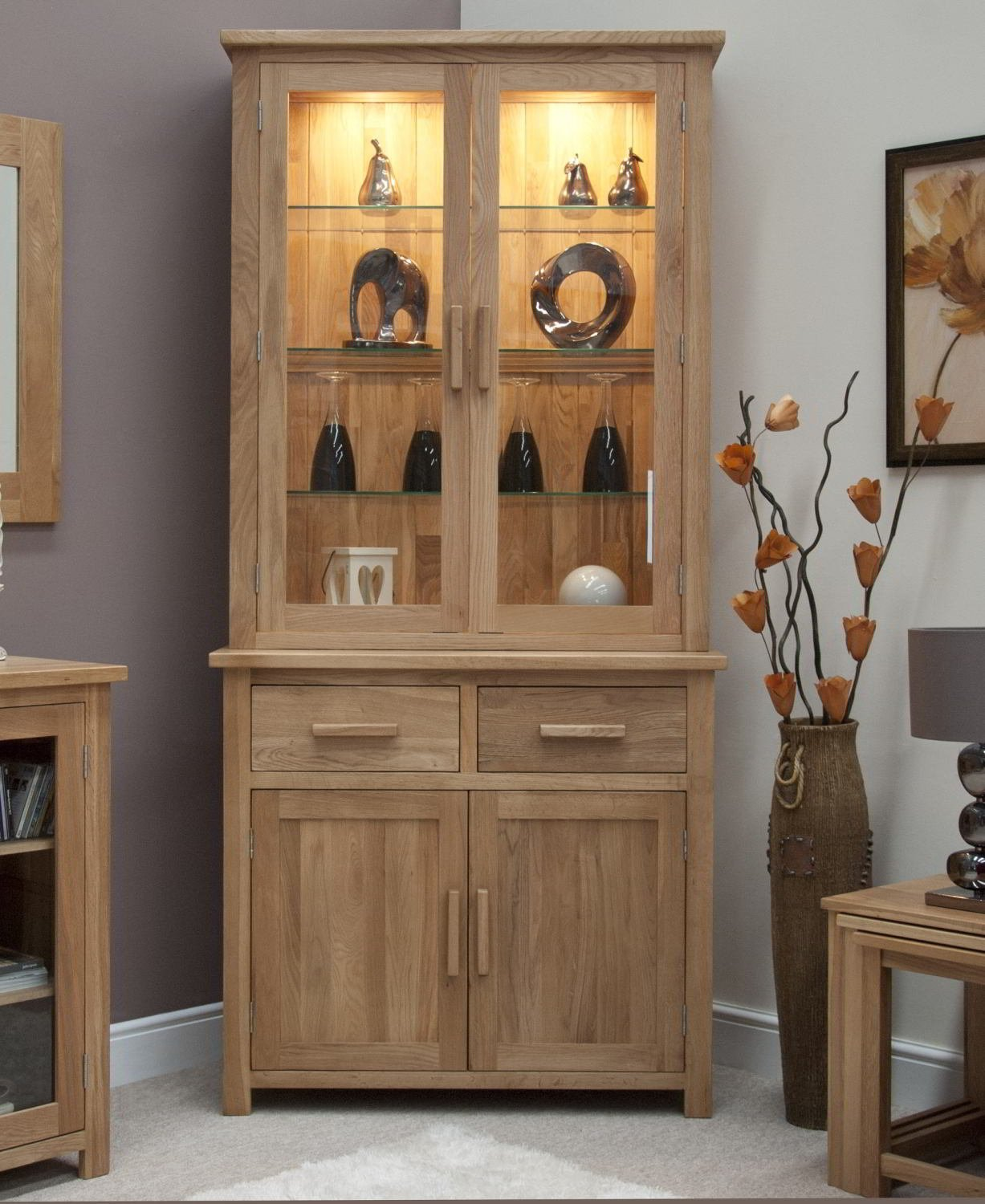 Eton Solid Oak Furniture Small Dresser Display Cabinet: Amazon.co.uk:  Kitchen U0026 Home
