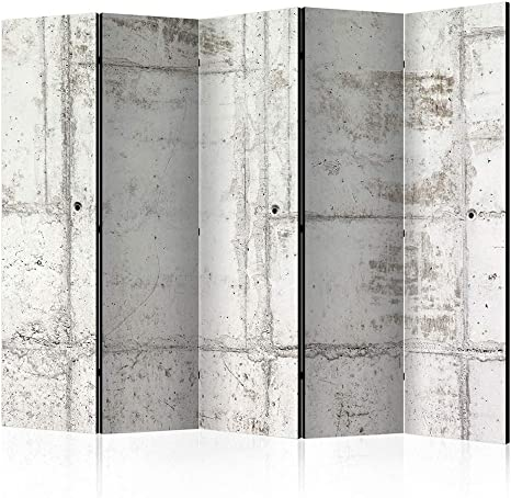 cloison pour s/éparer Une Piece Impression sur Le Papier intiss/é 100/% d/écoratif Opaque Foto en Bois avec Interieur Impression Abstrait Diamants Blanc decomonkey Paravent repliant XXL 225x172 cm
