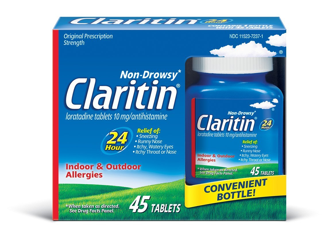 Claritin allergy 24 hr 10 mg tablets, 45 Count (Pack of 6)