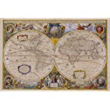 7071a5dea3d Artisanti Club Style Framed Map Prints - Set of 4  Amazon.co.uk ...