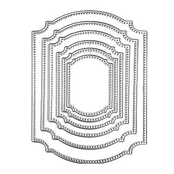 Gosear 6 Piezas Corte de Troquel para Scrapbook, Acero al Carbono Ventana Marco Forma Corte Die Plantilla Plantillas Molde para DIY álbum de Recuerdos ...
