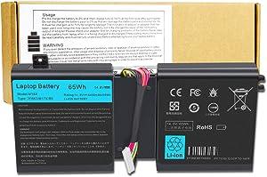 14.8V Replacement Battery for Dell Alienware 17 (2013) 17X M17X-R5 18 18X M18X M18X-R3 ALW18D-1788 Series 02F8K3 0KJ2PX KJ2PX G33TT 0G33TT G33TT 2F8K3