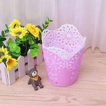 Hollow Flower Brush Storage Pen Pencil Pot Holder Container Desk Organizer Gift Desk Accessories & Organizer