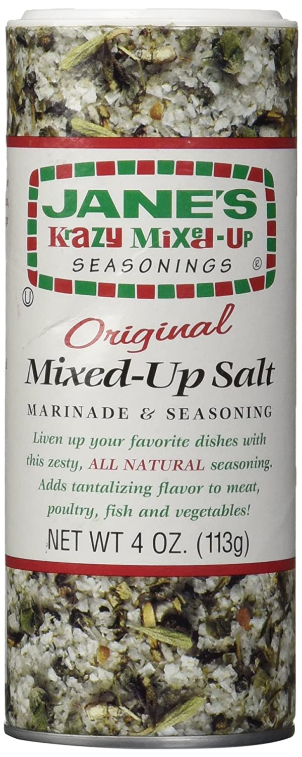 Jane's Krazy Mixed Up Salt, 4 Ounce : Mixed Spices And Seasonings : Grocery & Gourmet Food