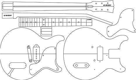 Amazon Com Electric Guitar Layout Template Lp Jr Dc 24 625 Scale
