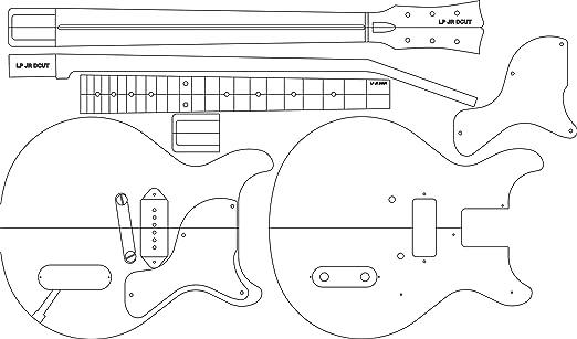 Amazon.com: Electric Guitar Layout Template - LP JR DC 24.625 ...