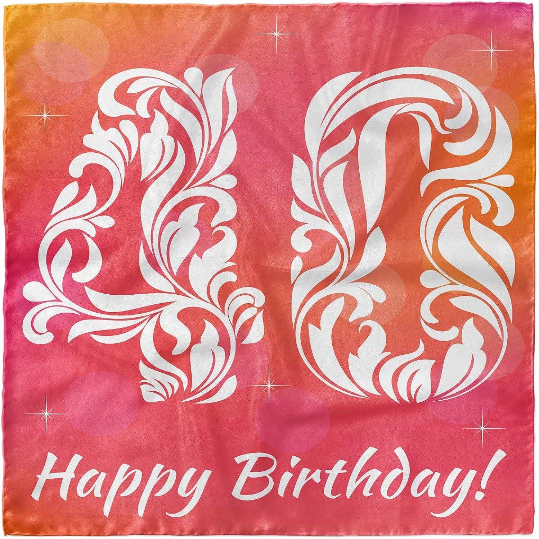 Head Wrap Happy Greeting Floral Ambesonne 40th Birthday Hairscarf
