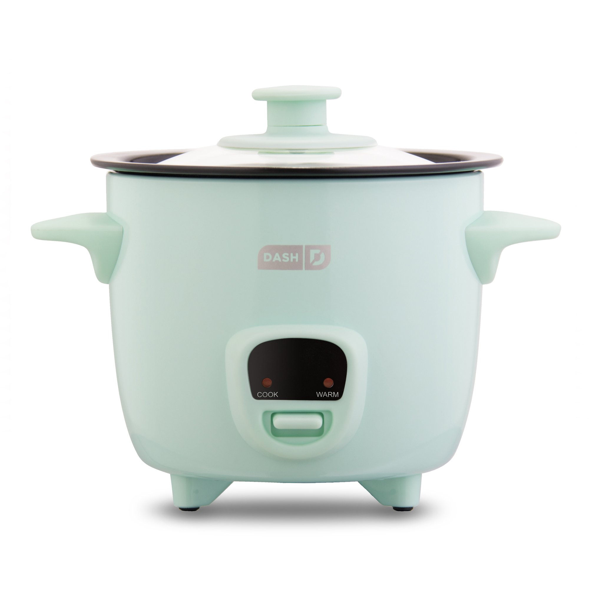 Dash DRCM200GBAQ04 Mini Rice Cooker Steamer with Removable Nonstick Pot, Keep Warm Function and Recipe Guide, 2 cups, Great for Soups, Stews, Grains And Oatmeal, Aqua