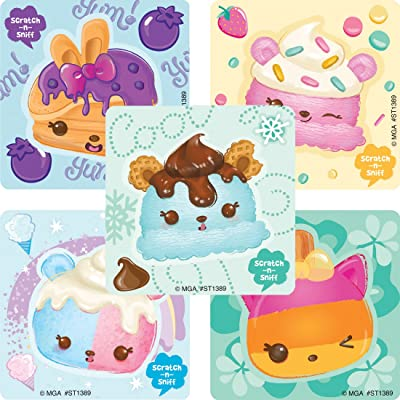 50 Num Noms Dessert Fruit Scented Stickers - Prizes and Giveaways - 50 per Pack