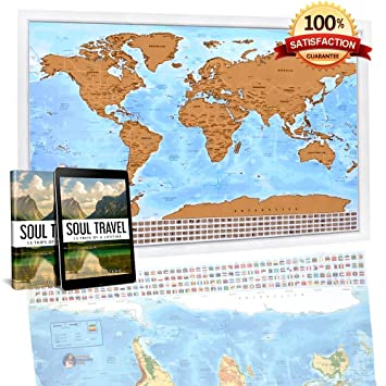 Amazon swiper mapstm the easy to scratch off world travel swiper maps the easy to scratch off world travel map unique premium quality gumiabroncs Images