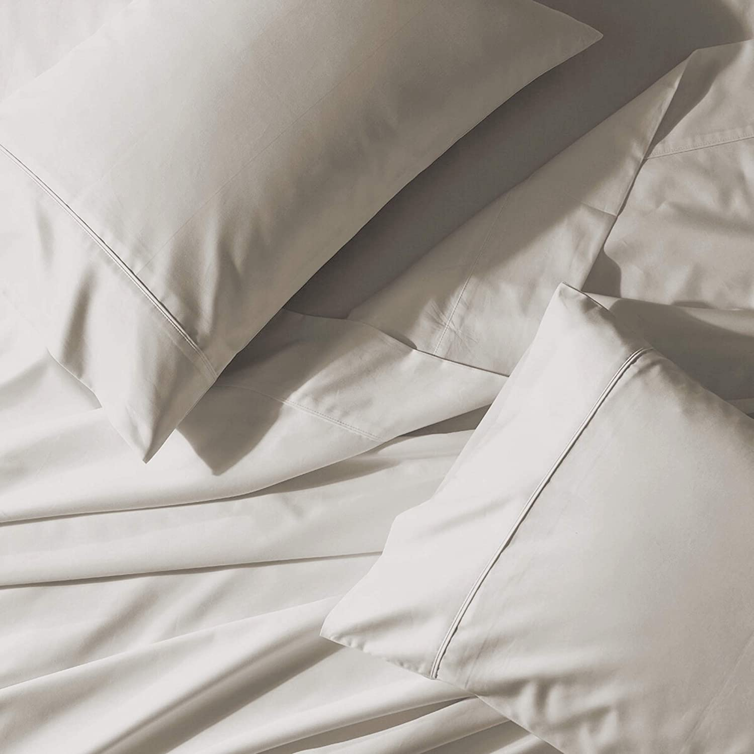Fits Mattress Upto 17 Deep Breathable 100/% Organic Cotton Pure White Twin-Sheets Set GOTS Certified 3-Piece Pure Organic Cotton Long Staple Percale Weave Ultra Soft Best Bedding Sheets for Bed